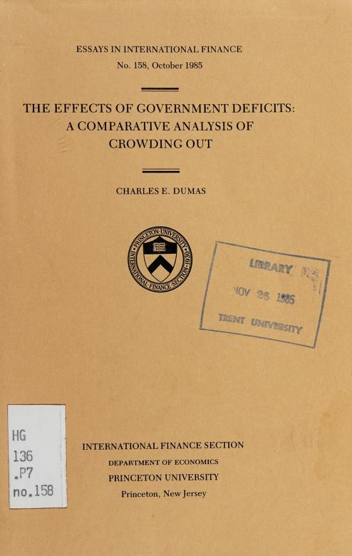 The effects of government deficits by Charles E. Dumas