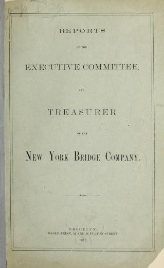 Reports of the executive committee and treasurer of the New York Bridge Commpany by New York Bridge Company
