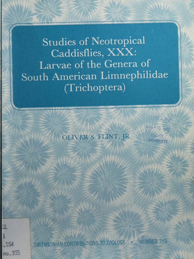 Studies of neotropical caddisflies, XXX by Oliver S. Flint